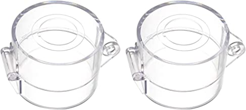 uxcell 2pcs Clear Plastic Switch Cover Protector for 22mm Diameter Push Button Switch 55x43