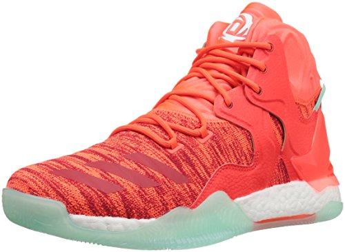 adidas Men's D Rose 7 Primeknit Basketball Shoe, Solar Red/White/Ice Green Fabric, 8.5 M US
