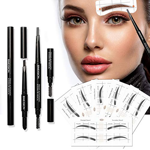 Eyebrow Stencil, 36 Pairs Reusable Eyebrow Shaper Kit, 3-in-1 Black Eyebrow Pencil Set with 6 Fashionable Styles Eyebrow Stencils Kit for Women, HIME SAMA Eyebrow Template Makeup Tools for Eyebrows