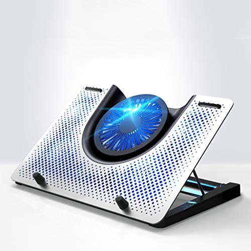 Base Portatil Base Refrigeradora 12 '- 18' portátil de Blu-ray portátil de refrigeración soporte de enfriamiento del cojín del juego de escritorio USB con alimentación del ventilador con Metal Grille