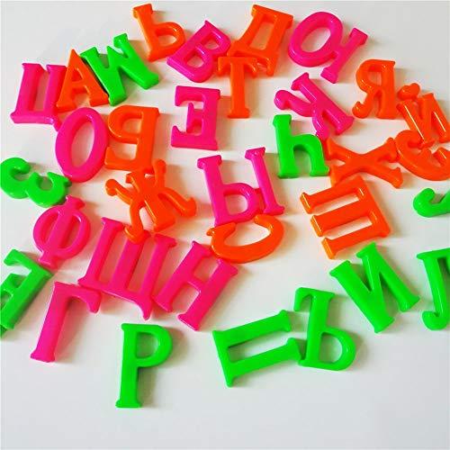 QiKun-Home 33 Piezas Alfabeto Ruso Imanes de Nevera Juguetes educativos de Aprendizaje para bebés Multicolor