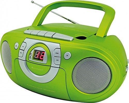 Soundmaster SCD5100GR Radio-Kassettenspieler mit CD-Spieler in grün