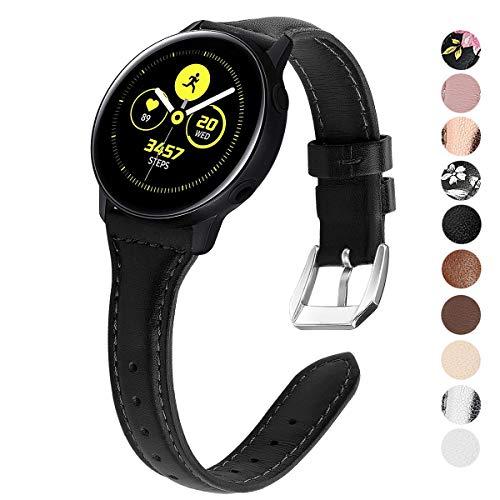 KIMILAR armband compatibel met Samsung Galaxy Watch 42mm Galaxy Watch Active/Active 2 (40mm/44mm) lederen armbanden voor Gear Sport, Garmin Vivoactive 3/Forerunner 645/245, Vivomove, Huawei Watch GT 2