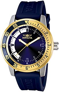 Invicta 12847 reloj de acero inoxidable especial con banda azul para hombre