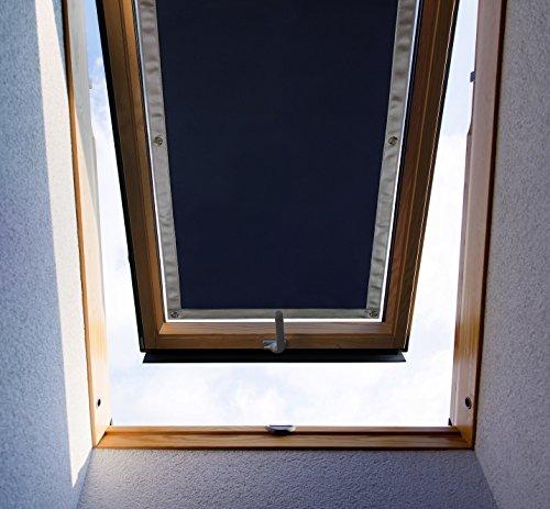 Purovi Thermo Sonnenschutz für Dachfenster | verschiedene Größen | UV Schutz | 57 x 100 cm kompatibel Velux 045 / Y45