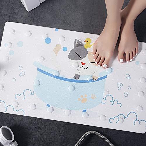 MYSdd 1 Ventosa Tipo Alfombrilla de Ducha de baño Seguridad para bebés Alfombrilla de baño Antideslizante Tarjeta a través de Animal PU Alfombrilla de Masaje Alfombrilla de baño impermeable-G50X80cm