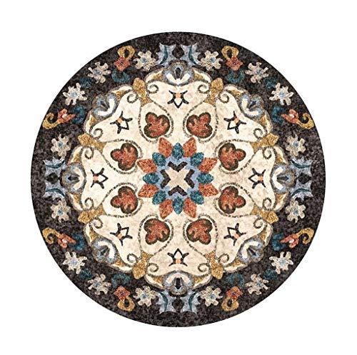 Decoratie voor binnen, Europese stijl, rond, tapijt, decoratief, voor woonkamer, slaapkamer, zacht, yogamat, muismat, decoratie voor thuis. Diameter 140CM