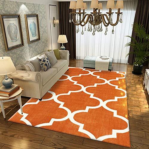 Geometrische moderne tapijt voor woonkamer Slaapkamer Slaapbank Koffie Studie Anti-Slip Tapijten Showcase tapijten Huishoudelijke tapijt 140cmX200cm ORANJE