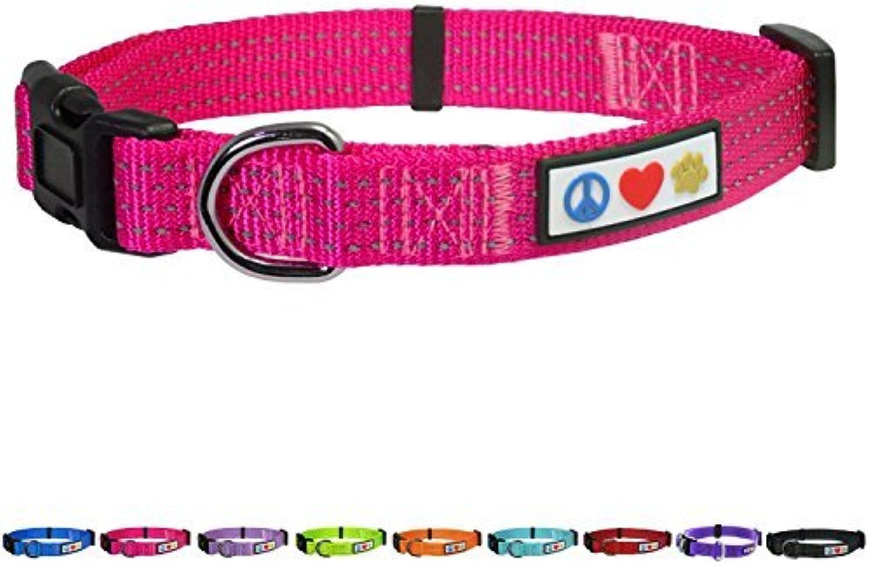 Pawtitas Reflective Dog Collar Medium Pink 3 4 Inch by PAWTITAS
