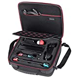 Smatree Travel Carrying Case Compatible for Nintendo Switch Game Storage Accessories Bag, Hard Case Fit for Switch Pro Controller/Ultimate Edition Pro Controller