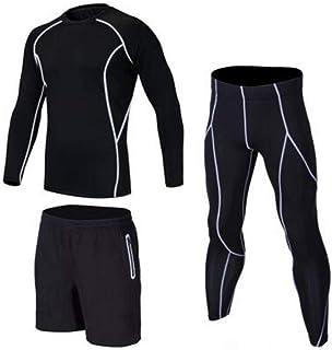 FENTINAYA Conjunto de Capa Base de compresión para Hombres, Leggings Deportivos Long Johns Gym Ropa de Entrenamiento para Correr