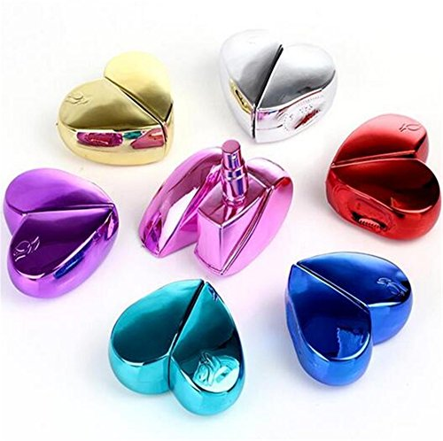 25ml atomizador de metal forma de corazón perfume botella de Spray atomizador rellenable regalo de botes de Perfume colorida CCB