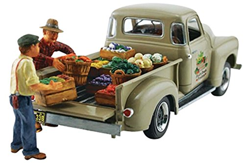 Woodland Scenics Autoscene Paul's Fresh Produce Pickup Truck w/Figures HO Scale