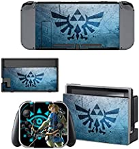 video games Decals Stickers Full Set Faceplate Skin for Nintendo Switch Console & Joy-con Controller & Dock Protection Kit by okanhyeu