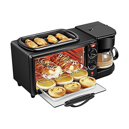 YUNFEILIU Panificadora para Pan 3 en 1 eléctrica para el hogar, Panificadora de sartén, Mini cafetera de Goteo multifunción Pan Pizza