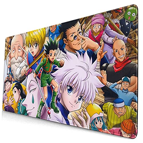 Hunter X Hunter Mouse Pad Anime Gaming Mouse Pad Mouse Mat for Office Supplies 15.8x29.5x0.12 Inch