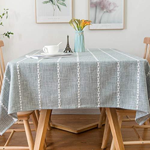 Huaji Mantel nórdico de lino y algodón a prueba de polvo rectangular para decoración del hogar