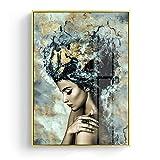 Moderne Marmor Mädchen Poster und Druck Wandkunst Leinwand