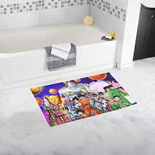 vrupi Cartoon Dragon Ball Patrón Caracteres Pad Personalizado Antideslizante Baño Cocina Dormitorio Alfombra Alfombra baño Creativa Decoración hogar Franela Estera Puerta 40 * 60cm