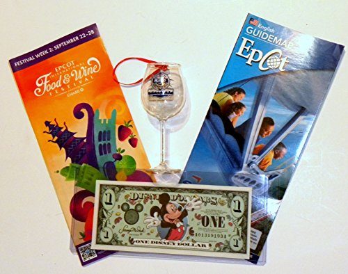 Disney World WDW Park 2014 Epcot Food & Wine World Showcase Wine Shot Glass Map Bundle Dollar Christmas Ornament