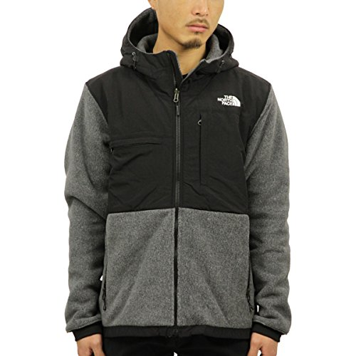 The North Face Denali 2 Hoodie Jacket - Men's Recycled Charcoal Grey Heather/TNF Black Medium