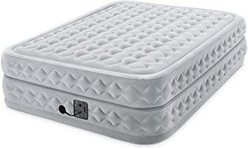 Intex 20in Queen Dura-Beam Deluxe Supreme Airflow Airbed with Internal Pump, White