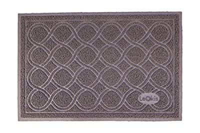 """Leokis Premium Phthalate Free Cat Litter Mat, Extra Large 35"""" x 23"""", Non-Slip, Traps Litter and Keeps Floors Clean, Soft on Sensitive Kitty Paws, Durable, Easy to Clean, Fits Under Box"""