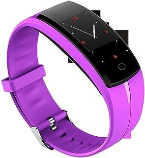 Sunnyflowk Smart ECG Bracelet Sports Bracelet Health Monitoring ECG Heart Rate Measurement Pedometer Multi-Functional Bracelet Qs100 (Purple)