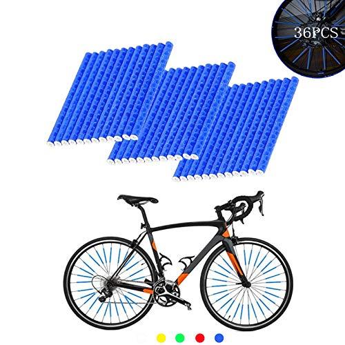 ETHEL Reflektierende Fahrrad Speichen,36 Stcke Clips Fahrrad,360° Sichtbarkeit Reflektoren,für Speichenreflektoren für Sicheres Fahren,Fahrrad Dekoration (Blau)