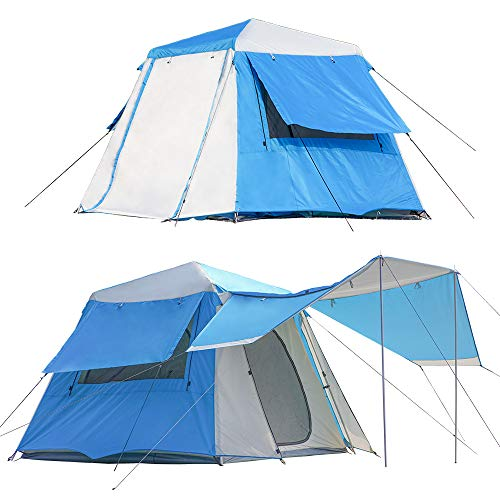 NatEtoile Tents for Camping 4 Person Tent, Instant Cabin Tent, Easy Pop Up Family Camping Tent, Waterproof, Aluminum Poles, Double Layers, Windproof