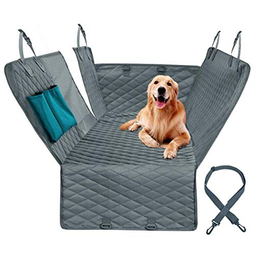 SUCAYU Hammock Convertible Scratchproof Non-Slip Dog Seat Cover for Back Seat Waterproof with Side Flaps Green