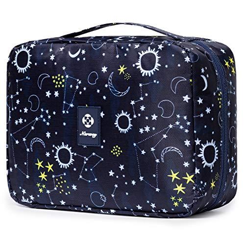 Reise Kulturtasche Zum Aufhängen Kulturbeutel Kosmetiktasche Waschtasche für Kinder Frauen Mädchen Damen (Blaue Galaxie)