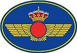 Artimagen Pegatina Oval Logotipo Ejército del Aire 65x45 mm.