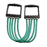 Andux Zone 5capas ajustable Chest Expander–Ideal para fortalecer y desarrollo de la musculatura en el pecho TLD de 10, verde