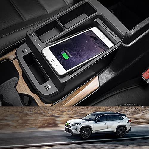 2021 Actualización de accesorios de cargador inalámbrico para automóvil Qi 15W MAX para Honda CRV 2017-2021 Todos los modelos, con puertos USB de 18W para iPhone 12/11 / XS / X Samsung S20 / S10