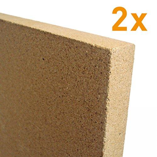 raik V2-25-2x 2x 25mm Vermiculite Platte 400 x 600 mm