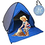 Sumelay Pop Up Beach Tent Shade Sun Shelter UPF 50+ Canopy Cabana 2-3 Person for Adults Baby Kids Outdoor Activities Camping Fishing Hiking Picnic Touring