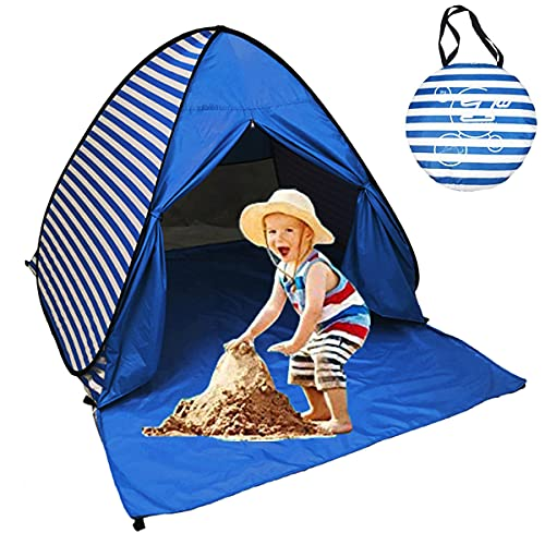 Sumelay Pop Up Beach Tent Shade Sun Shelter UPF 50+ Canopy Cabana 2-3 Person for Adults Baby Kids...