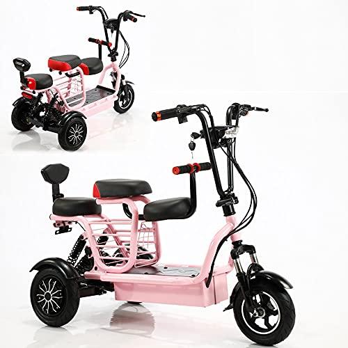 Elektrischer Dreirad-Roller,motorisiertes 700-W-Doppelantriebs-Klappmotorrad 48v15A Lithium-Ionen, geeignet für ältere/erwachsene weibliche Outdoor-Reiseroller mit einer Reichweite von 55 Kilometern