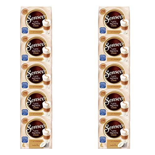 Senseo Kaffeepads Latte Macchiato Classic, Milchkaffee, Kaffee Pad, Relaunch, neues Design, 100 Pads für 50 Portionen
