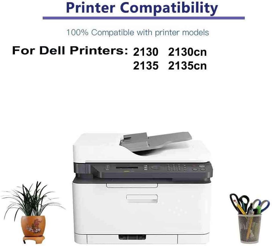 1-Pack (Black) Compatible 2130, 2135, 2130cn, 2135cn Printer Toner Cartridge High Capacity Replacement for Dell 330-1389 Toner Cartridge
