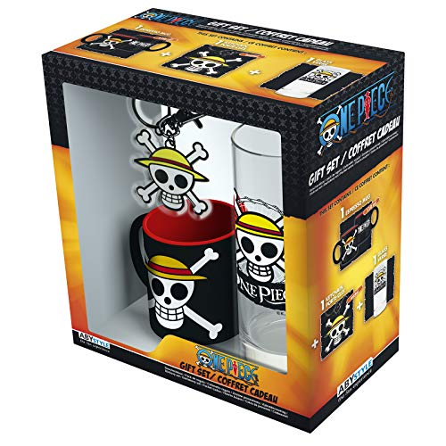 ABYstyle - One Piece - Caja de Regalo Luffy - Vaso + Llavero + Mini Taza