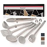 REMIHOF Silicone Kitchen Utensil Set - Nonstick Silicone and Stainless Steel Cooking Utensils -...
