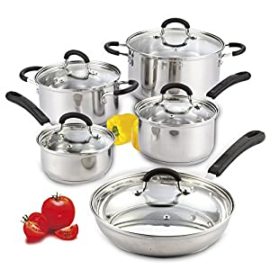 Cook N Home 10-Piece Stainless Steel Cookware Set Review
