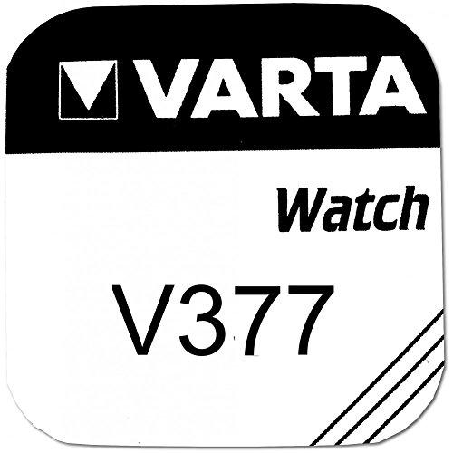 Varta Watches Knopfzellen Sealed Lead Acid x V377(VRLA) 1,55V Batterien Battery–Batterien Akkus (Sealed Lead Acid (VRLA), 1,55V, 27mAh, 0,39G)