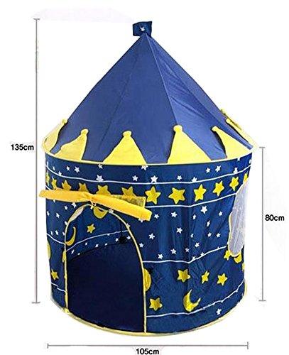 Kids 'pliante Safe Fun résistant à la lumière douce Omlet Qute Océan Balle/tente de plage Play House (Bleu)