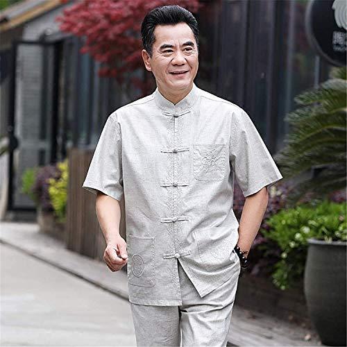 HLZY Uniformes Tradicionales Chinos de Tai Chi Kung Fu China Tradicional Tai chi Ropa Ligero Ocasional Kung fu Vestido de Manga Larga Confort marcial (Color : White, Size : Medium)