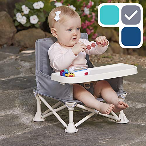 hiccapop Omniboost Travel Booster Seat with Tray for Baby | Folding Portable High