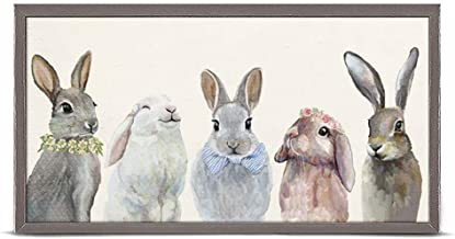 GreenBox Art + Culture Bunny Bunch by Cathy Walters 10 x 5 Mini Framed Canvas