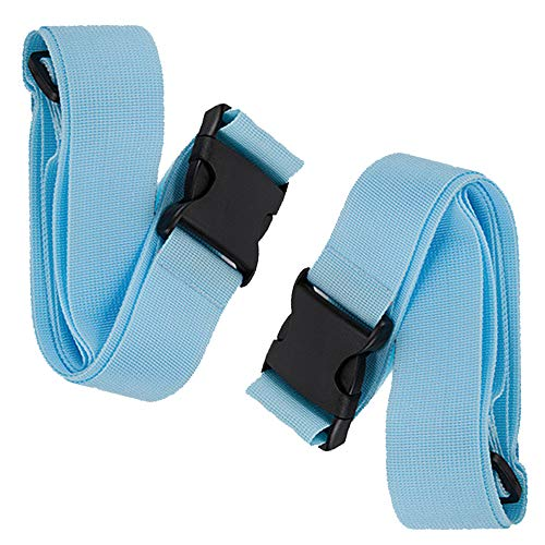 BlueCosto Luggage Straps Suitcase Belts Travel Accessories, 2-Pack, Blue